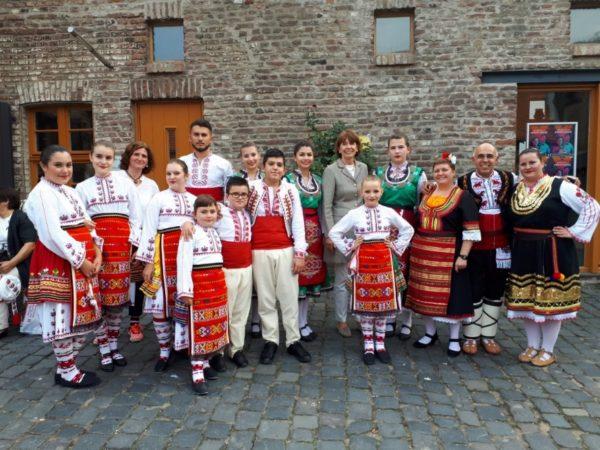 Tanzgruppe bulgarischer Roma -Kinder